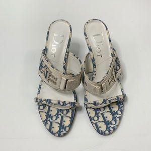 Christian Dior Vintage Monogram Sandal Heel 7.5